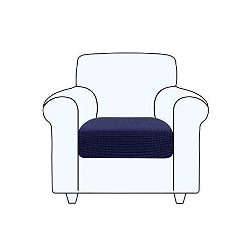 TAOCOCO Fundas de cojín para sofá ,Protector de cojín de Asiento de Tela de poliéster de Alta Elasticidad (Azul Oscuro, 1 Asiento)