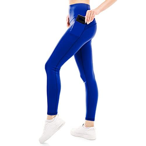 ZENACROSS Leggins Sportivi Donna - Blu S - Fitness, Yoga, Jogging, Corsa
