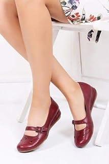 TARÇIN Hakiki Deri Günlük Kadın Babet Ayakkabı TRC50-4010