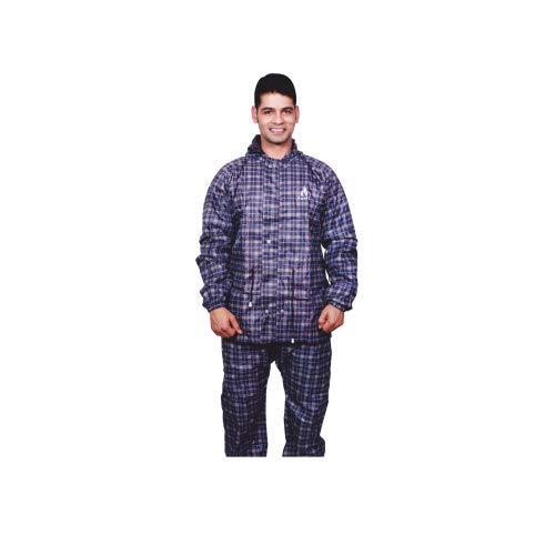 Aashi Men's Solid Rain Coat (New_Rnct_JS-51_XXL_MIX_Navy Blue_XXX-Large)