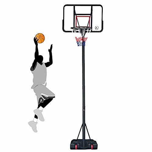 Basketballkorb YXX Erwachsene Kinder 10 Ft Basketball Hoop & Tore, Tragbarer, Höhenverstellbarer Basketballplatz Mit Rädern, Spielplatzschule Im Freien Basketball-Rückwand