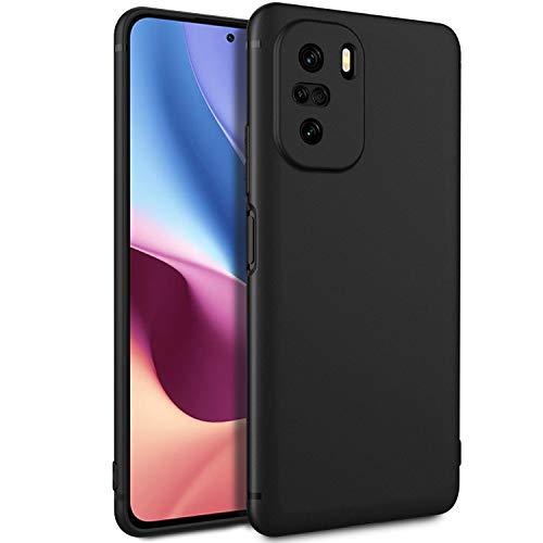 EasyAcc Hülle Case Kompatibel mit Xiaomi Poco F3 (Redmi K40) 5G, Soft TPU Telefonhülle Matte Oberfläche Handyhülle Schutzhülle Schmaler Telefonschutz, Schwarz