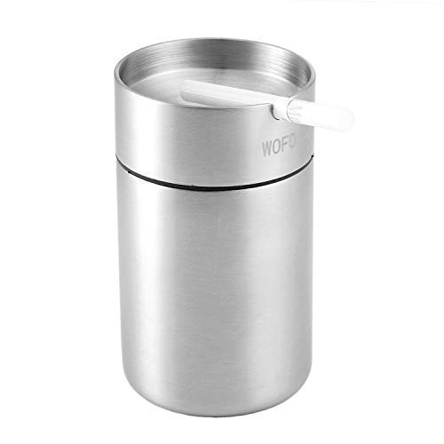 Ashtray, Stainless Steel Smokeless Car...
