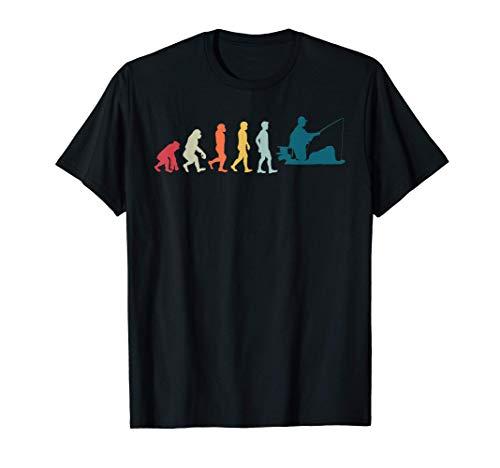 Evolution Fischer Angelliebhaber Vater Angeln T-Shirt