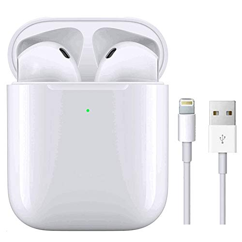 Auriculares Bluetooth Auricular Inalámbrico In-Ear Auriculares Micrófono de Reducción de Ruido Incorporado y Caja de Carga Rápida 3D Estére IPX5 Impermeables, para iPhone/Android/Samsung/Airpods