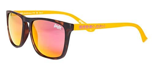 Superdry Herren SDR ALUMNI Sonnenbrille, Mehrfarbig (Matte Camo/Fluro Orange Red Grey), 55.0