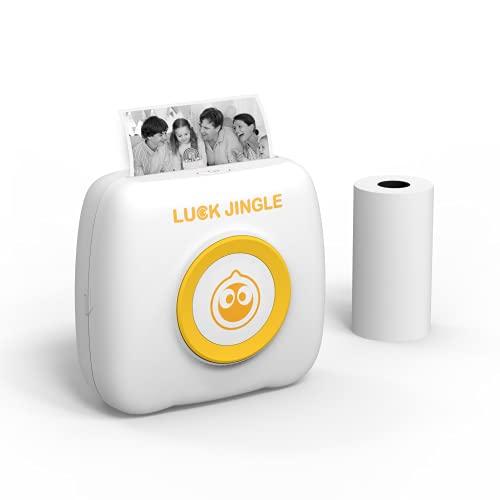 Etlephe Mini Stampante Fotografica Stampante Termica Bluetooth Senza Inchiostro Stampante Portatile Tascabile per Smartphone Multifunzione Stampante di Piccole Dimensioni per Android iOS