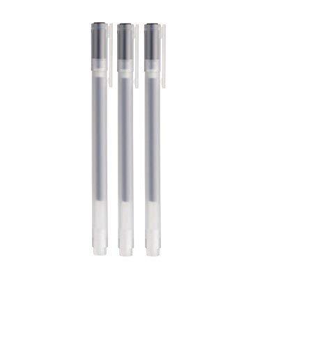 Muji 18727674 Kugelschreiber aus Japan, schwarze Geltinte, 0,38 mm, 3 Stück