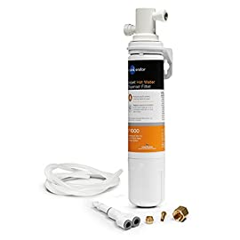 InSinkErator F-1000S, One Size 1 ENJOY BETTER TASTING WATER: The F-1000 filter is designed to reduce particulates, and the unpleasant taste and smell that chlorine adds to tap water. Filter head bracket compatible with F1000 & F2000 replacement filters. EASY INSTALLATION: The F1000S Water Filtration System includes the F1000 filter, twist-&-Lock quick-connect filter head, and the other parts needed for install. Recommended 6 month filter replacement for optimal performance. HEALTH, TASTE & SUSTAINABILITY: Filtered tap water optimizes health, saves money on bottled water, and helps manage the global volume of discarded plastic bottles. Designed for exclusive use with InSinkErator water dispensing systems.