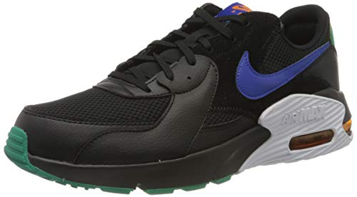 Nike Herren Air Max Excee Sneaker, Black/Hyper Blue-Neptune Green, 44.5 EU