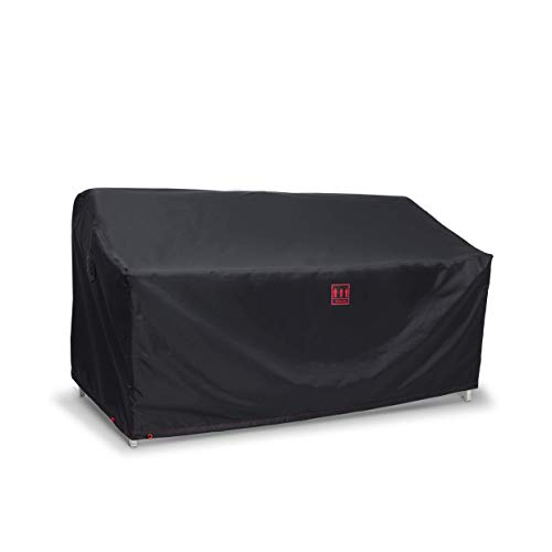 Turtle Life Patio Sofa Cover,Outdoor Heavry Duty Durable UV Water Resistant Anti-Fading Loveseat Cover with Upgrade Air Vent, Black,60Wx35Dx35H inch