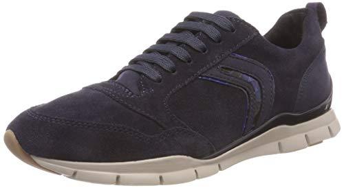 Geox Damen D Sukie A Sneaker, Blau (Navy C4002), 39 EU