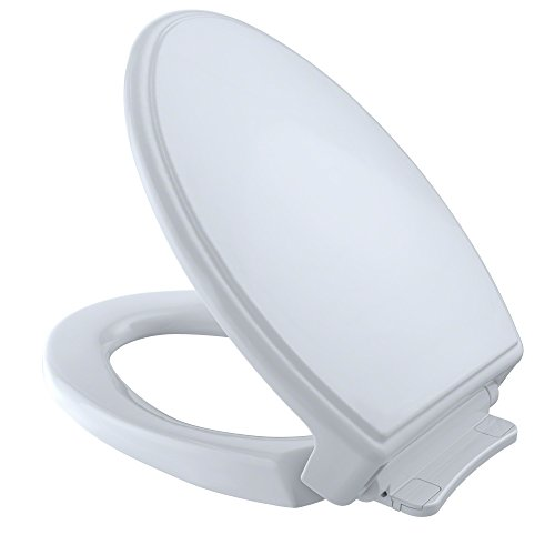 TOTO SS154#01 Traditional SoftClose Elongated Toilet Seat, Cotton White