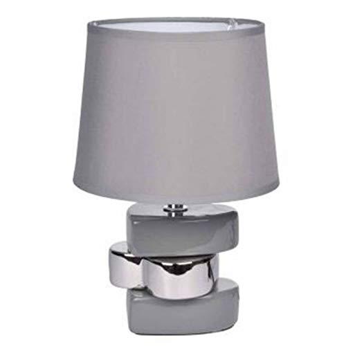 Paris Prix - Lampe à Poser Déco 3 Cœurs Galets 24cm Gris