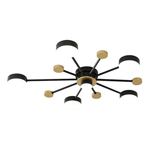 Lámpara de techo de hilo de 38 W con mando a distancia para baño, cocina, dormitorio