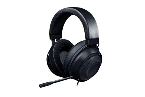 Razer Kraken - Gaming Headset Cuffie On-Ear Cablate per il Gaming Multipiattaforma per PC, PS4, Xbox One & Switch, Driver da 50 mm, Cavo Audio da 3.5 mm con Controlli su Filo, Nero
