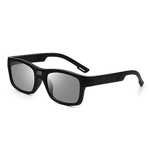 フォトクロミック偏光サングラス男性変色眼鏡アンチグレアUV400サングラスドライビングゴーグル (Lenses Color : Black Photochromic)