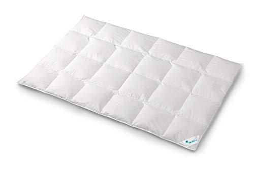 Mediflow 5731 / warme Premium-Daunendecke / 135x200cm / 90% Daunen, 10% Federn / weiß / Füllgewicht: 850g / 100% Baumwolle