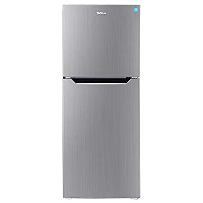 TACKLIFE 7.0 Cu. Ft Fridge with Freezer, No Frost, Mid-Size Refrigerator, Energy Star Rating, Low noise, Two Door Apartment Size, Stainless - HVSFR700