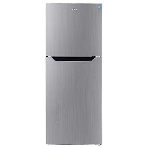 TACKLIFE 7.0 Cu. Ft Fridge with Freezer, No Frost, Mid-Size Refrigerator, Low noise, Two Door Apartment Size, Stainless - HVSFR700