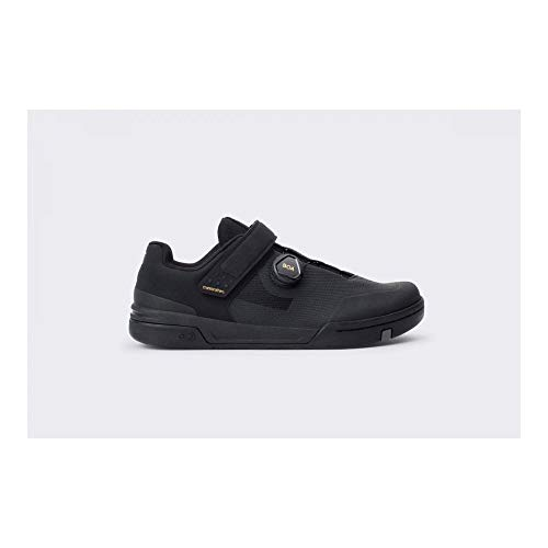 Crank Brothers Stamp BOA Men's Flat Shoe - Black/Gold/Black, Size 9.5