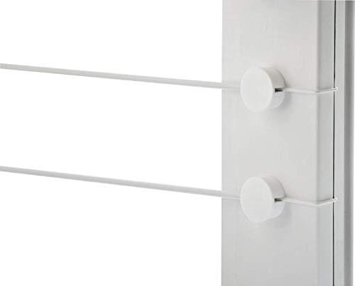 4Gardine Gardinendraht Befestigung SET für 1+1 Fenster ohne Bohren oder Kleben/ eine bis 155cm/ eine Alternative für Gardinenstange Klemmstange oder Vitragestange für Scheibengardinen Küchengardinen Bistrogardine/ Weiß