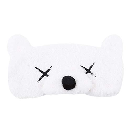 MoreLucky Cartoon dier beer patroon geborduurd oog masker slaap masker reizen oogmasker