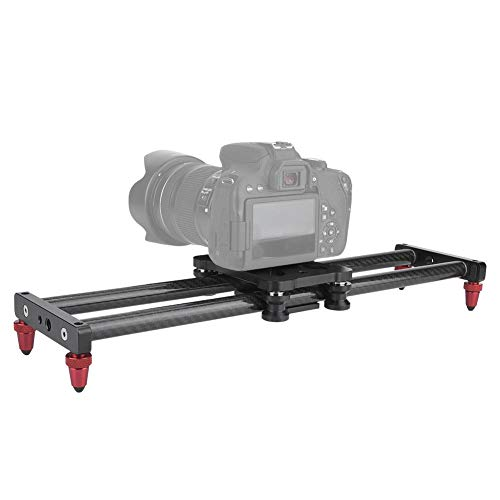 Camera slider track slider rail systeem, 42cm koolstofvezel camera track slider videostabilisator DSLR rail camcorder filmen, camera track rail slider