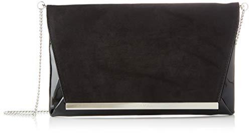 MARIA MARE Mariamare INOA, Bolso de mano para Mujer, Negro (Afelp/Ch Negro), 4x18x29 cm (W x H x L)