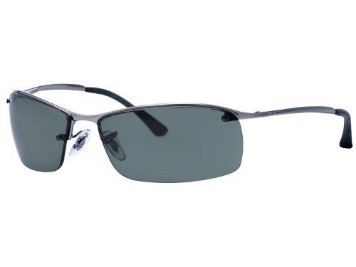 Ray-Ban Metal Frame Green Lens Sunglasses RB3183