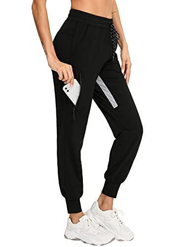 Sykooria Pantalones Chandal Mujer Casuals con Cordón Largos Pantalones Deportivos Verano con Bolsillos para Correr Gimnasio Yoga