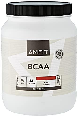 Marca Amazon - Amfit Nutrition Aminoácidos de cadena ramificada (BCAA), sabor a cola, 500g (anteriormente PBN)