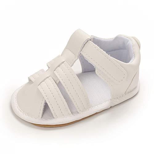 Cheerful Mario Zapatos Sandalias Para bebé Niñas Niños Primer Caminar Zapatos Con Punta Cerrada Para Niños Blanco 12-18 Meses