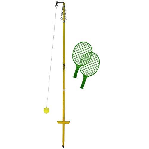 Best Sporting Circletennis-Twistball-5-teilig Gelb Circletennis - Twistball - 5 pièces Mixte Jeunesse, Jaune, 150-165 cm