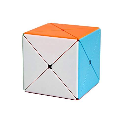 OJIN Cubo X Eje Cubo Nuevo Cubo Creativo Suave Cubo Mágico Puzzle de Velocidad Cubo Juguetes (Sin Etiqueta)