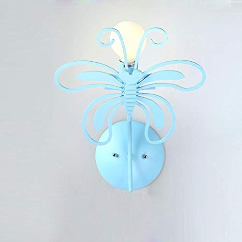 BYDXZ Kreative Karikatur-Schmetterlings-Wandleuchte-modernes Design-Metallholz-Wand-klassische Wand-Dekorationen E27 Edison-Wandleuchte innerhalb der Wand-Beleuchtung-Nachttischlampe Kinderzimmer-Flur