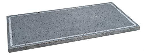 Etna Stone & Design Lava Grill BISTECCHIERA Pietra LAVICA ETNEA Piastra LEVIGATA 60x30 cm per Forno E Barbecue Cottura Carne, Pesce, Verdura E Pizza