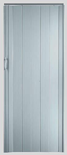 Falttür Schiebetür Farbe Edelstahl Look Höhe 202 cm Einbaubreite bis 84 cm Doppelwandprofil Neu