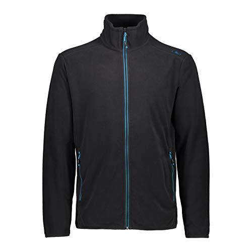 CMP Herren Lightweight Fleece with Oeko-TEX Standard 100 Certification Fleecejacke, Anthracite-Light Blue, 50