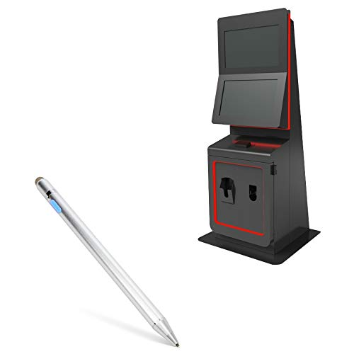 Olea Kiosks Monte Carlo Gaming Stylus Pen, BoxWave [AccuPoint Active Stylus] Electronic Stylus with Ultra Fine Tip for Olea Kiosks Monte Carlo Gaming - Metallic Silver