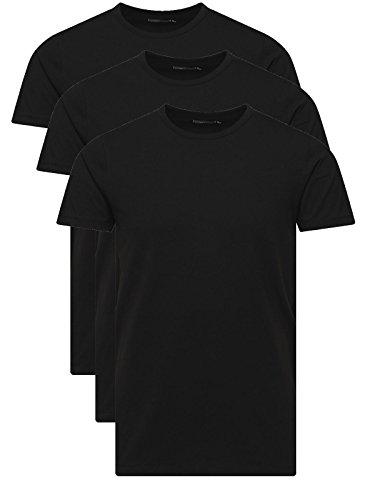 Jack & Jones T-Shirt Basic O-Neck Black Jack and Jones T-Shirt, Herren, Shirt (M, 3er Pack schwarz)