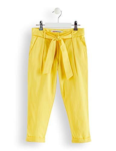 Marca Amazon - RED WAGON Pantalones con Lazada para Niñas, Amarillo (Yellow), 104, Label:4 Years