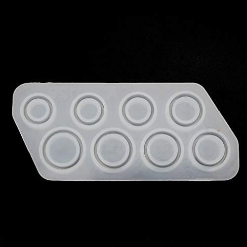 siwetg 8 moldes de silicona para anillo de joyería de resina de varios tamaños