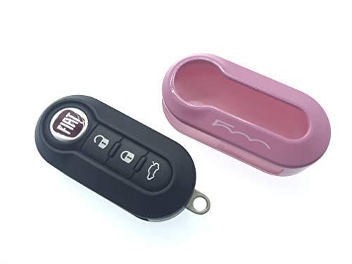 Carcasa protectora para llave de alta calidad brillante para Fiat 500C 500-500L...