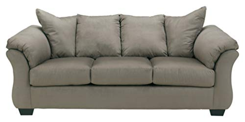 Ashley Furniture Signature Design - Darcy Sleeper Sofa - Full Size - Ultra Soft Upholstery - Contemporary - Cobblestone