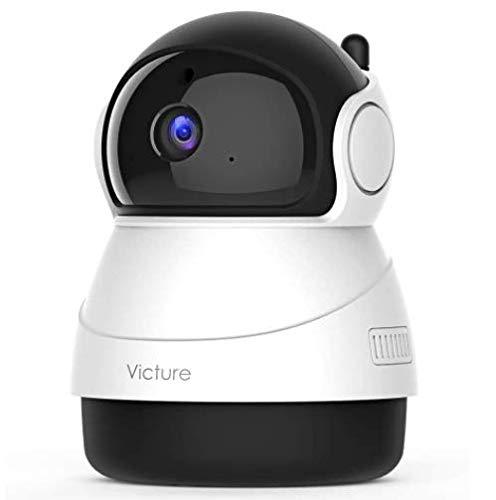 2021 Nouvelle Version Victure Caméra de Surveillance 1080P, Suivi de Mouvement, Vision Nocturne, détection du Son, Audio bidirectionnel, Surveillance bébé, Surveillance des Animaux de Compagnie