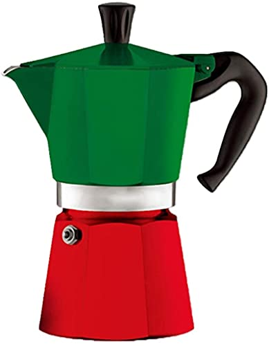 MXCHEN Tetera para moca Utensilios de café Tetera para moca Café espresso Hogar Cafetera Moca Cafetera espresso (Color: Verde, Tamaño: 3 tazas)