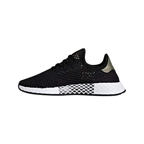 adidas Deerupt W, Chaussures de Gymnastique Femme, Noir (Core Black/Core Black/Tech Silver Met.), 36 EU