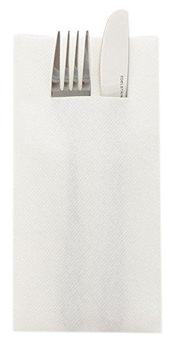 Sovie Home Linclass®Airlaid Besteck Servietten Uni | Weiß | Ideal geeignet für Hochzeit & Geburtstag | 40x40cm | 12 Stück