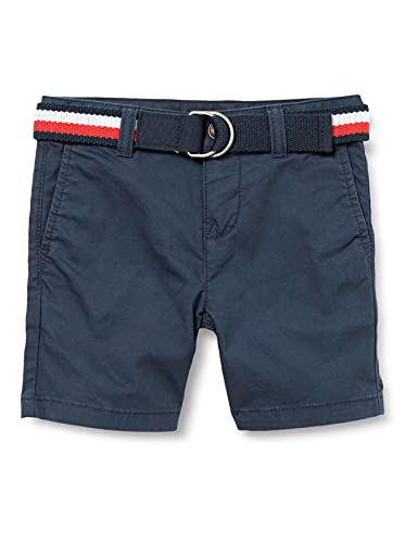 Tommy Hilfiger Jungen Essential Belted Chino Shorts, Blau, 140